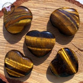 Golden Tiger Eye Heart